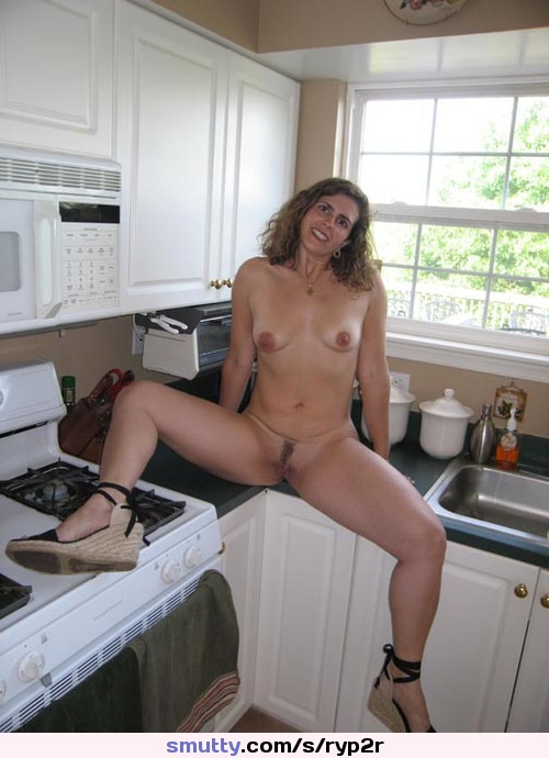 Sexy moms nude in the kitchen
