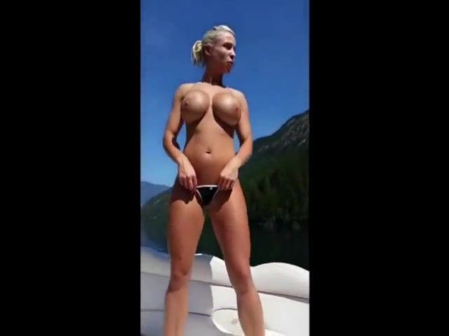 Caught nude on boat
