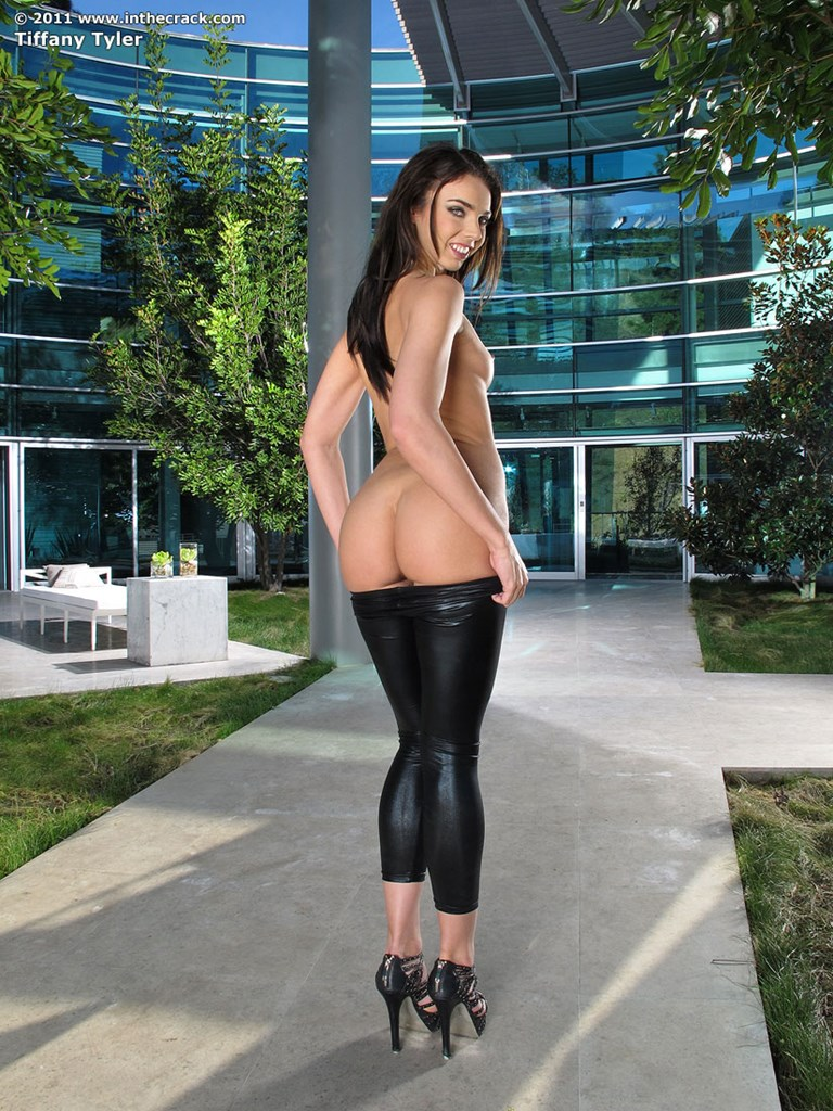Sexy naked girls in leather pants